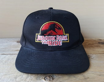 caf988179555b JURASSIC PARK The RIDE Vintage 90s Promo Snapback Hat Original Dinosaur  Attraction Baseball Cap Universal Studios Nissun Brand Ballcap