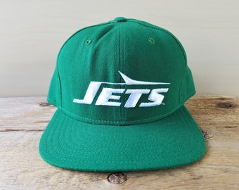 8757be8c814 Vintage New York JETS New Era Pro Model Fitted Hat Deadstock Official NFL  Baseball Cap Size 7 1 4 Football Green Wool Pro Design Ballcap