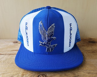 Air Force FALCONS Vintage 80s  Lucky Stripes  Trucker Hat USA Official  Licensed AjD Snapback Mesh Baseball Cap NCAA Double Knit Nylon Rare d6b4885f286c