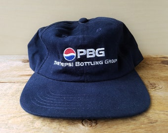 c5a674ec39014 The Pepsi Bottling Group Vintage 1999 PBG Strapback Hat Unstructured  Founders Day Embroidered Baseball Dad Cap Minimal Low Profile Ballcap