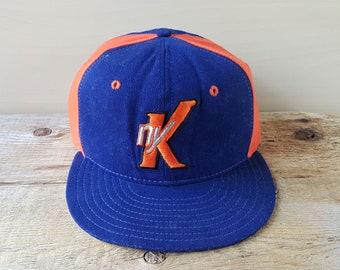 fca4f2f30c9 Vintage New York KNICKS Original New Era Pro Model 5950 Fitted Baseball Cap  Size 7 1 4 NBA Wool Hat Spike Lee Alternate Style Basketball