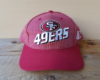 327666c8e0b38 SAN FRANCISCO 49ers Official NFL Strapback Hat Vintage 90s Logo Athletic Cap  6 Panel Embroidered Football Team Pro Line Sports Ballcap