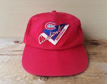 Montreal CANADIENS Original Vintage Official NHL Snapback Hat Sports Habs  Hockey Baseball Cap Embroidered Full Back Ballcap 3b7b8bda9e2