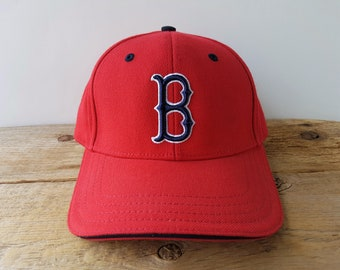 5200e0f2 Boston RED SOX Official Licensed MLB Strapback Hat American Needle Vintage  Baseball Cap Major League Red Touch Fastener Ballcap