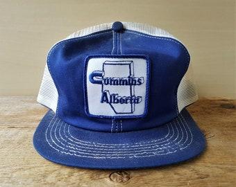 Vintage 80s CUMMINS ALBERTA Distressed Trucker Hat K-Brand Canada Snapback  Baseball Cap Original Promo Rare Patch Ballcap 173b2be00711
