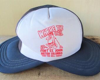 Vintage 80s Rare Dual Visor Trucker Hat