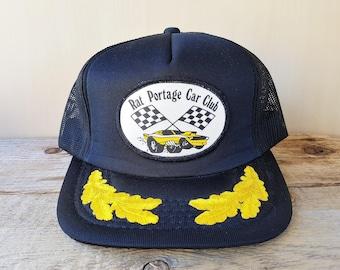 3c6383fd67d RAT PORTAGE Car Club Original Vintage 80s Black Mesh Trucker Snapback Hat  Young An Promo Adjustable Baseball Cap Sports Auto Racing Ballcap