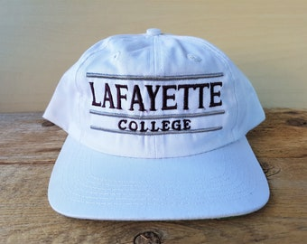 ee485ff09dd LAFAYETTE College Vintage 90s Snapback Hat Leopards Team The Game NCAA  Three Bar Varsity Baseball Cap Deadstock Russell Athletic Ballcap