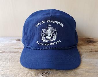 c3ce3835cdc City of Vancouver PARKING METERS Original Vintage Navy Rope Lined Snapback  Hat Adjustable Nylon Baseball Cap Municipal Law Enforcement
