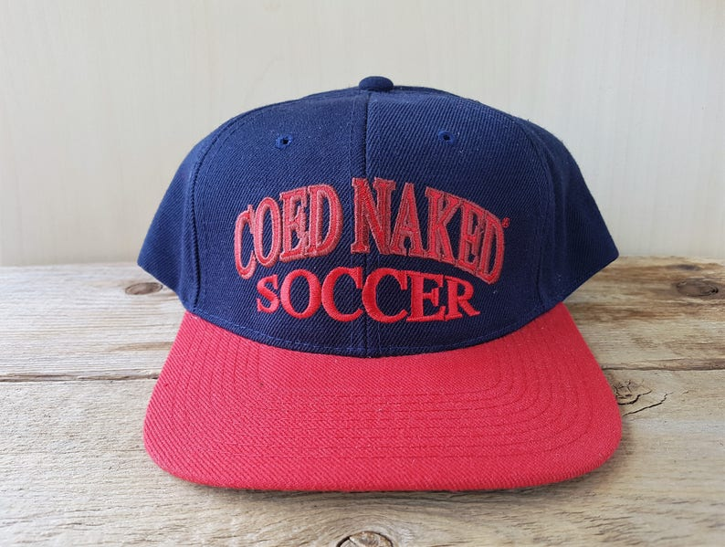 a092db3382b07 COED NAKED SOCCER Vintage 90s Two Toned Snapback Hat  Get