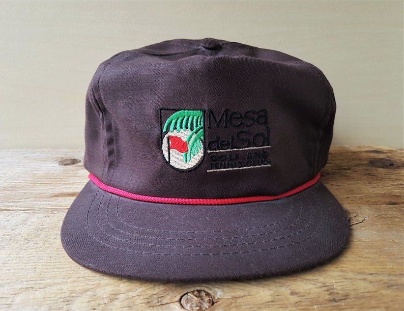 MESA del SOL Golf and Tennis Club Vintage Brown Strapback Hat  0f4169b8dbd2