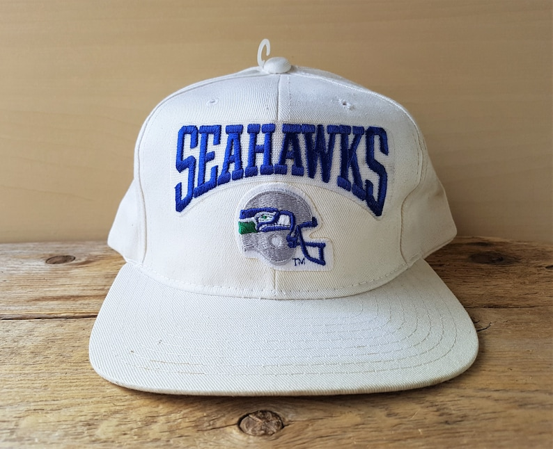 Vintage SEATTLE SEAHAWKS Original Snapback Hat Official NFL  16e0729fe