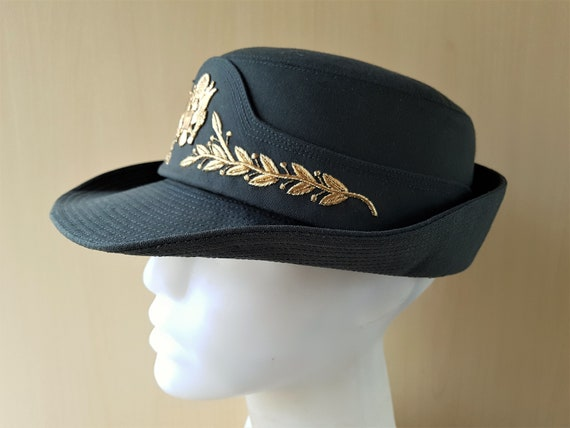 Vintage Women s US Army Officer Green Service Dress Hat  2a8050d0b