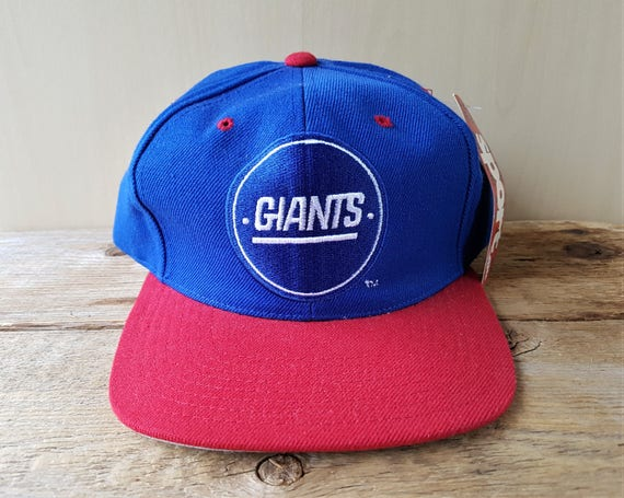 New York GIANTS Vintage 90s Snapback Hat by AJD Official NfL  61366a12d4f8