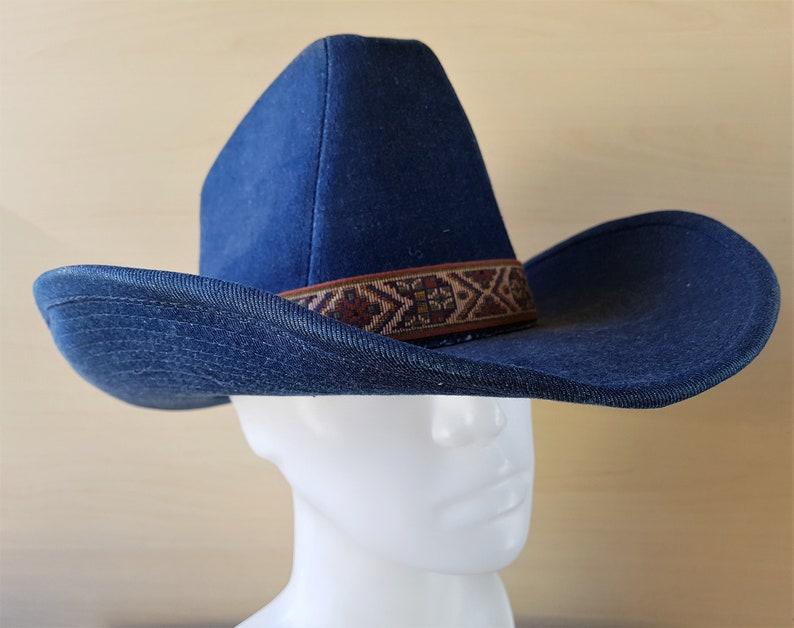 c26a79109b0a8 G.T. LANNING Headwear Tough Blue Denim Western Cowboy Style