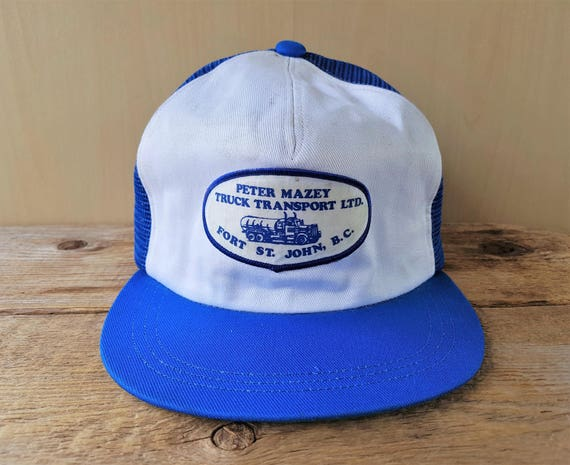 31b709bc896ba PETER MAZEY Truck Transport Ltd. Rare Defunct Vintage 80s Blue