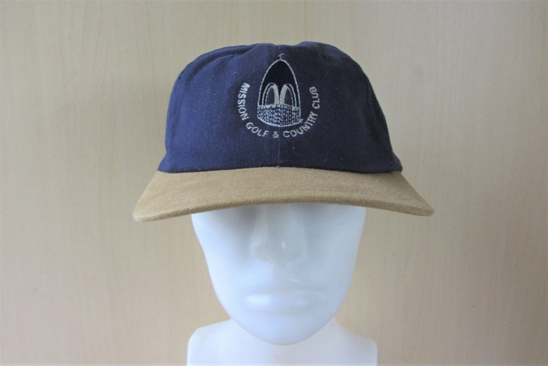 05710a8f58a MISSION Golf   Country Club Vintage 90s Strapback Hat British