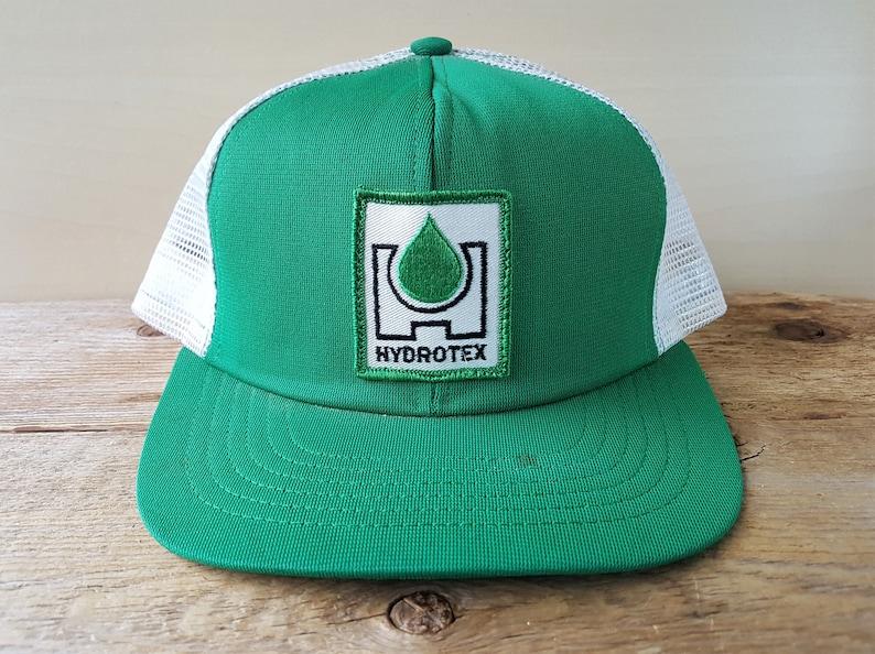 75b5d085 Vintage HYDROTEX Green Swingster USA Trucker Hat Performance Lubricants  Snapback Mesh Baseball Cap Used Throwback Adjustable Ballcap