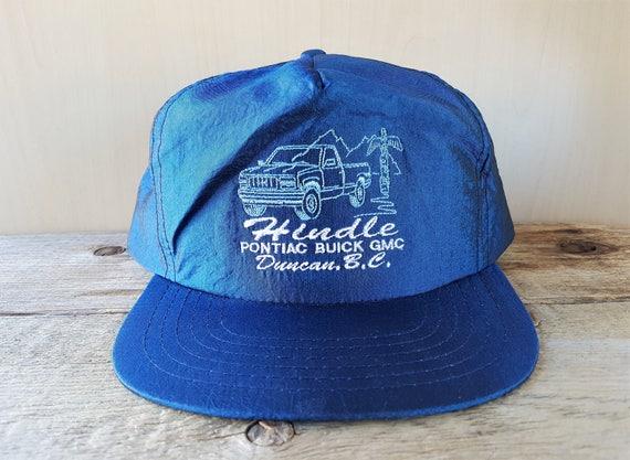 2e52e4f0a55 HINDLE Pontiac GMC Buick Vtg Trucker Hat Iridescent Metallic