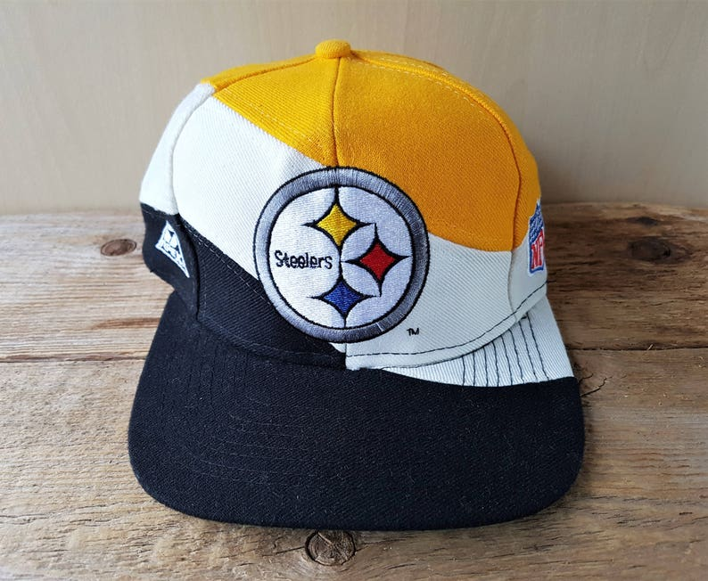 825770308 Pittsburgh STEELERS Original Vintage 90s Apex One Snapback Hat