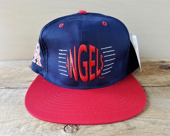 California ANGELS Vintage 90s Snapback Hat Official MLB  dea8426d1932