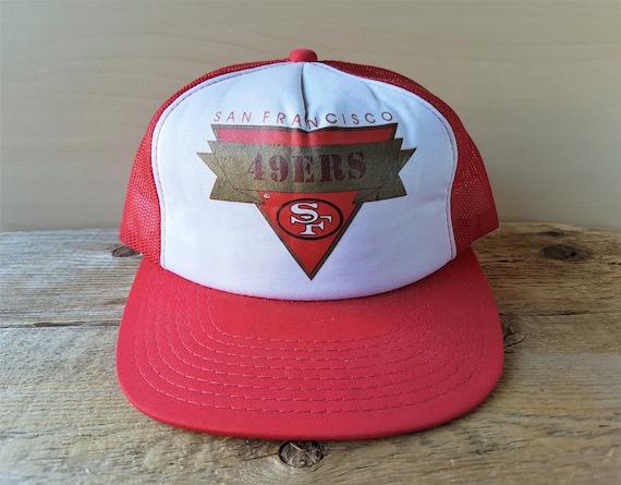 944694d2 San Francisco 49ers Vintage 80s Official NFL Trucker Hat Sports Specialties  Snapback Cap Young An Football Retro Adjustable Ballcap