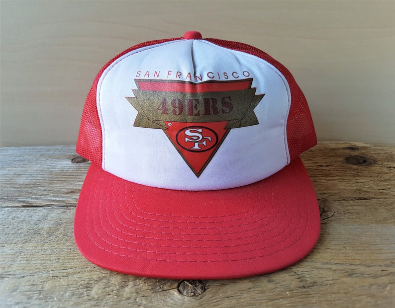 f561749e4d879 San Francisco 49ers Vintage 80s Official NFL Trucker Hat