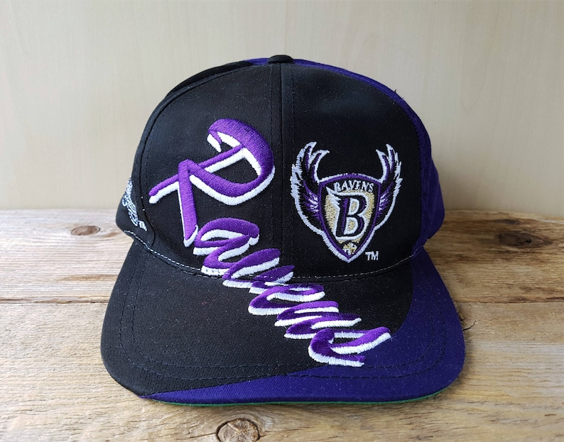 580bc44d Baltimore RAVENS Original Vintage 90s Snapback Hat Logo 7 Official Football  Team NFL Baseball Cap Multi Script Embroidered Logos Deadstock