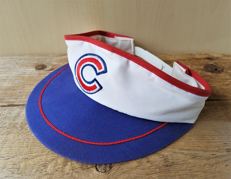 c52e12b143268d Vintage 80s CHICAGO CUBS Sun Visor Snapback Hat USA Major | Etsy