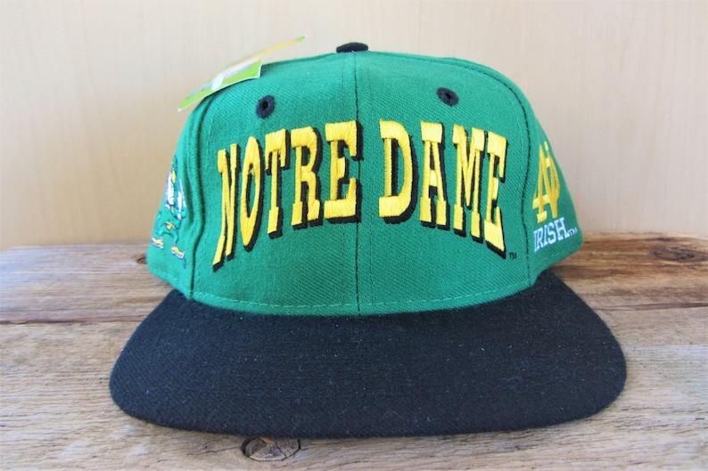 huge selection of 3a2c8 281e9 Notre Dame FIGHTING IRISH Original Vintage 2 Tone Quad   Etsy