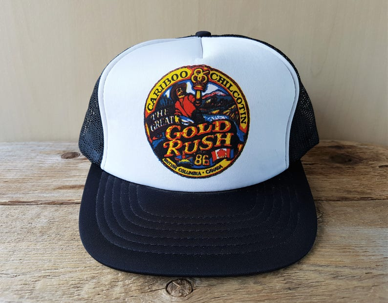 ede21a5e4d5c5 Cariboo Chilcotin GOLD RUSH Official Expo 86 Vintage Trucker