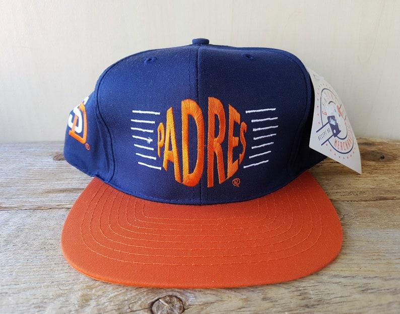 San Diego PADRES Vintage 90s Snapback Hat Official MLB  39bd960d090f
