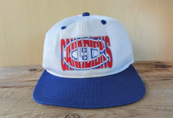 Montreal CANADIENS Vintage 90s Embroidered Snapback Hat by 1  e9c61ed61b93