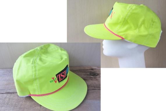fb419e99da3 JOHN DEERE Vintage 1990 The Vision Snapback Hat Fluorescent