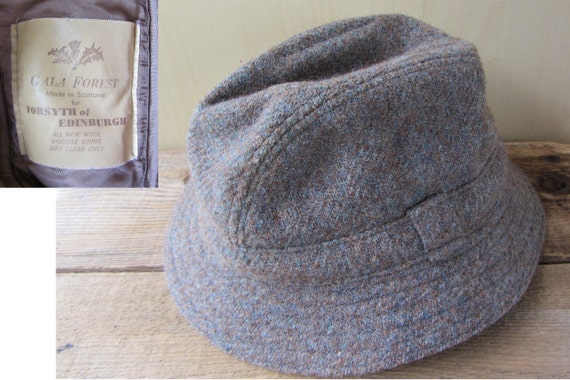 34907c841c8 Vintage GALA FOREST Wool Hat Made in Scotland for Forsyth of