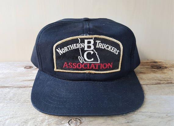 NORTHERN B.C. TRUCKERS ASSOCIATION Vintage 80s Black Foam  ea92ed068767