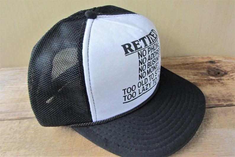 Vintage 80s RETIRED Trucker Hat No Phone No Address No  29e86cf18b28