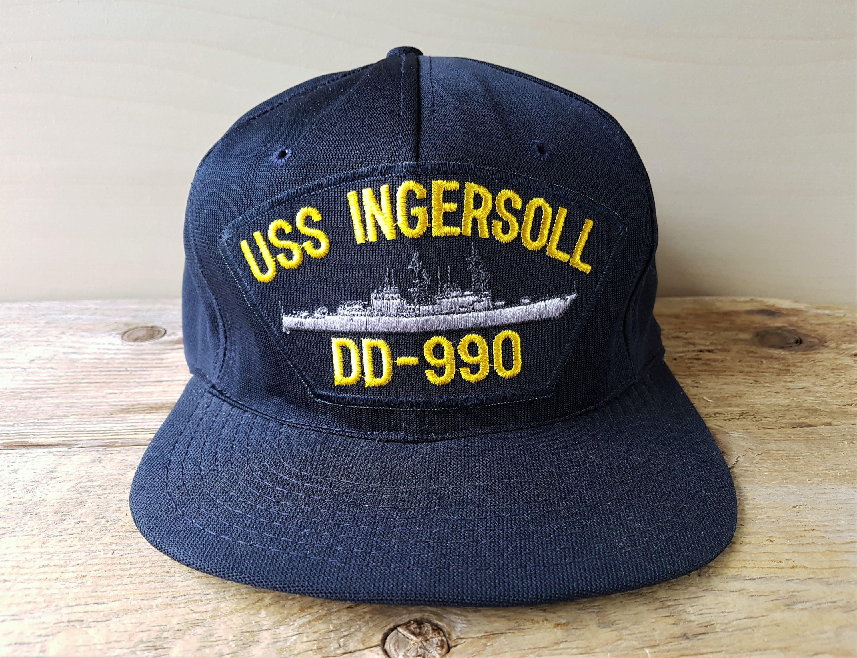 0bfb3a9eca9 Vintage USS INGERSOLL D.D. 990 United States Navy Destroyer