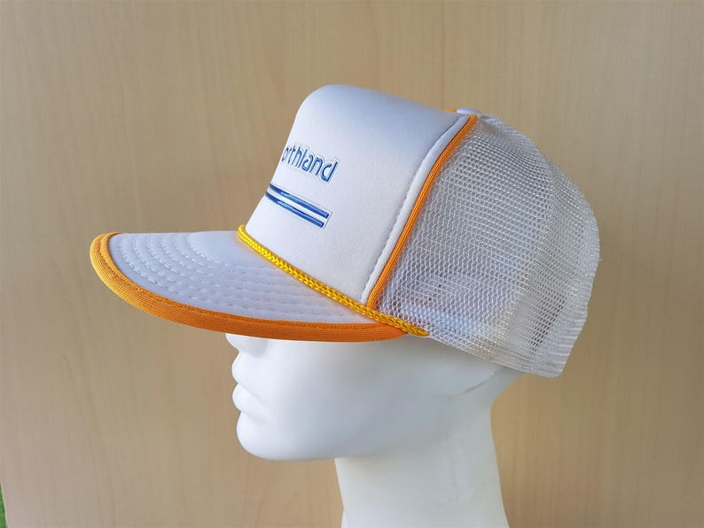 64f3e17a521dc NORTHLAND Canada Vintage White Mesh Golden Rope Lined Trucker