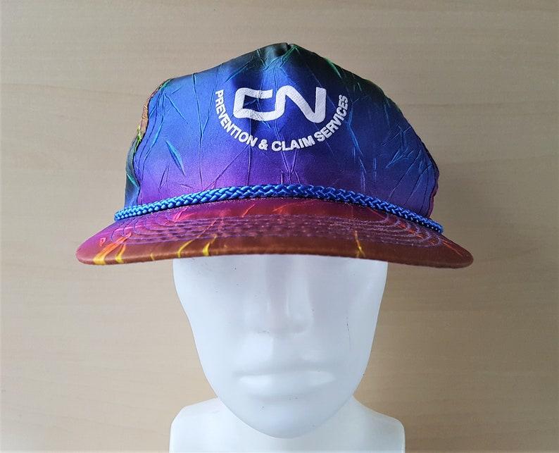 Vintage CN Rainbow Neon Snapback Hat Prevention   Claim  e0aa196fa638