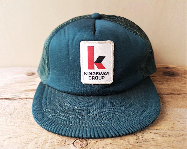 Vintage 80s KINGSWAY GROUP TRANSPORT Trucker Hat Snapback  18e9aa6c1f1b