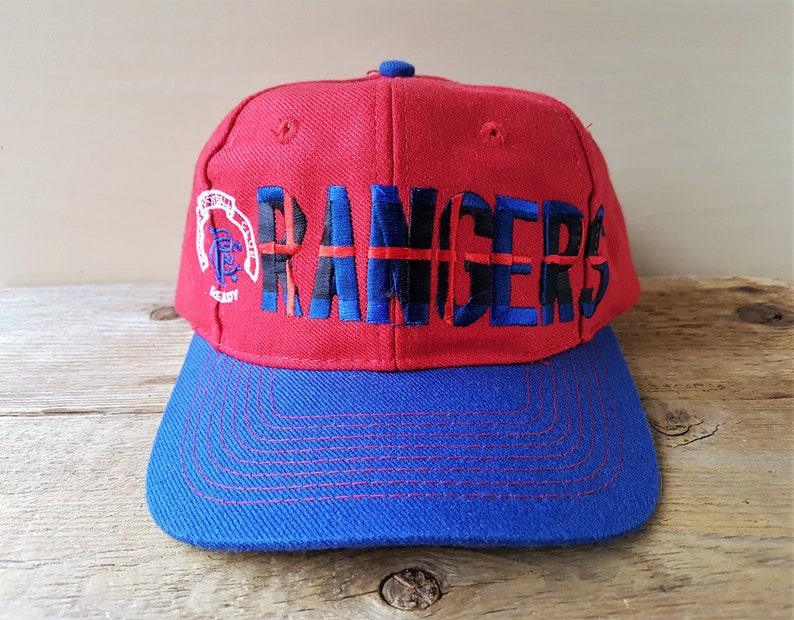 766fae453d6 Vintage Adidas RANGERS Football Club Snapback Hat Glasgow F.C.