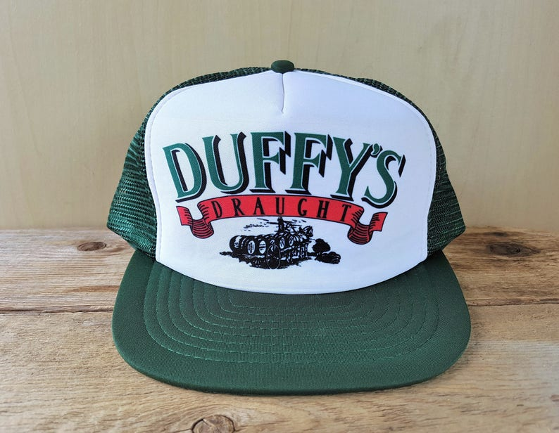 dae86a39f9855 DUFFY S DRAUGHT Beer Vintage 80s Trucker Hat Snapback