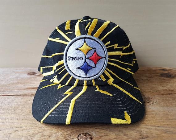 9cc42c9af58 Pittsburgh STEELERS Snapback Hat Vintage 90s STARTER Shockwave