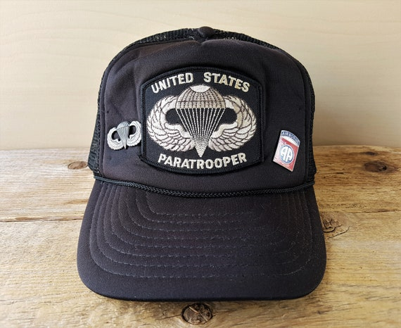 01b5c911162 Vintage United States PARATROOPER Trucker Hat with US Army