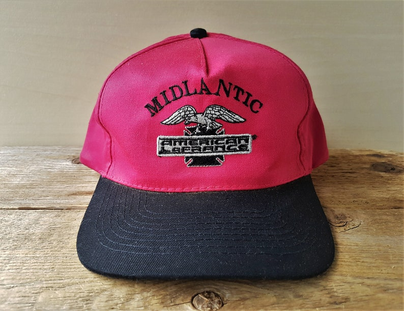 d8e89ea9b54 MIDLANTIC AMERICAN LAFRANCE Vintage 90s Snapback Hat Original   Etsy