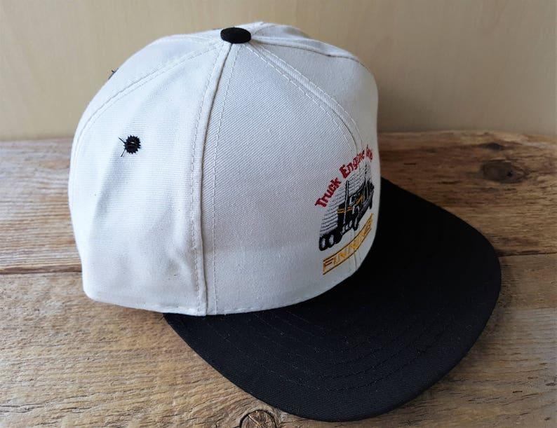 FINNING Truck Engine Service Vintage Cotton Duck Strapback Hat  2b787ad0db30
