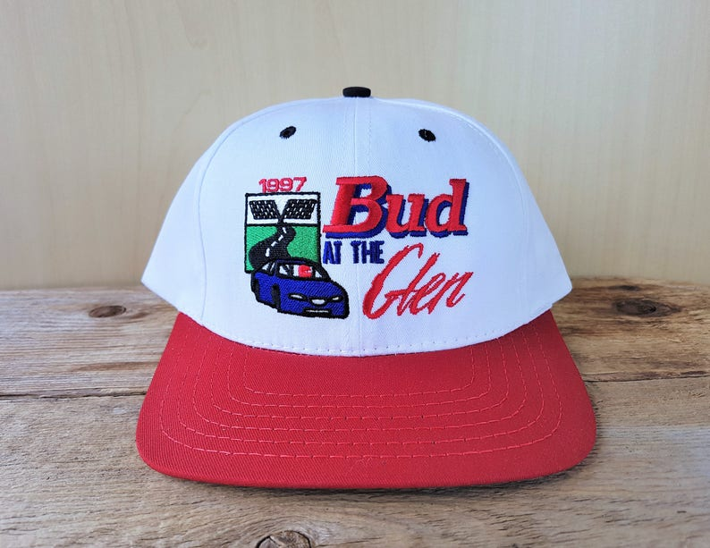 fddd28af 1997 NASCAR BUD at The Glen Vintage Snapback Hat Baseball   Etsy