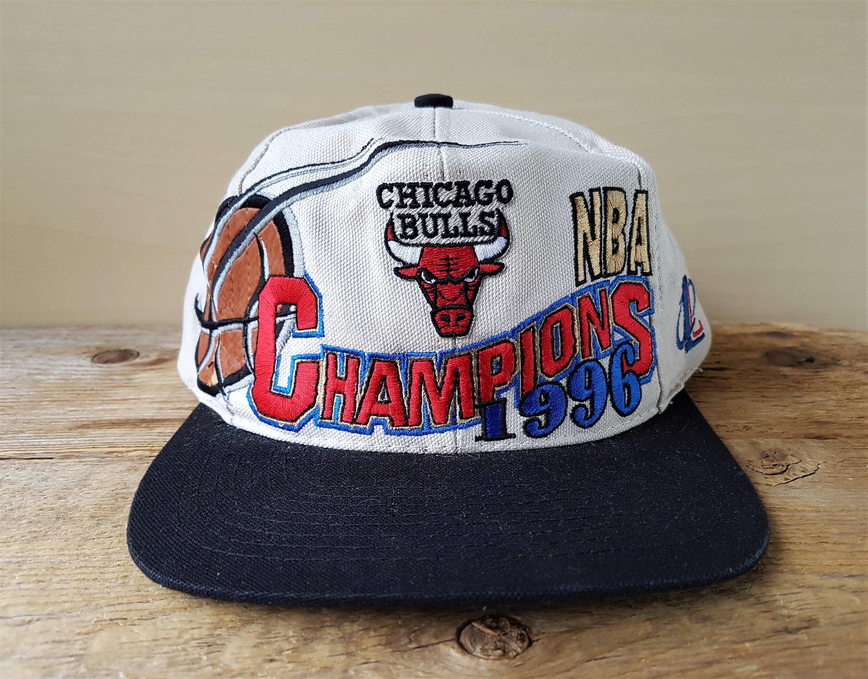 25cd34c6c47 Vintage Chicago BULLS 1996 Champions Logo 7 Athletic Snapback