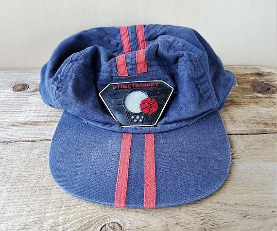 9e03873f97b STREET BASKET Disressed Original Vintage 80s Snapback Hat Navy